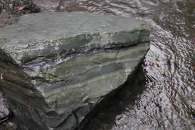 平取町 アオトラ石露頭