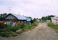 三井美唄炭鉱炭鉱住宅街の写真